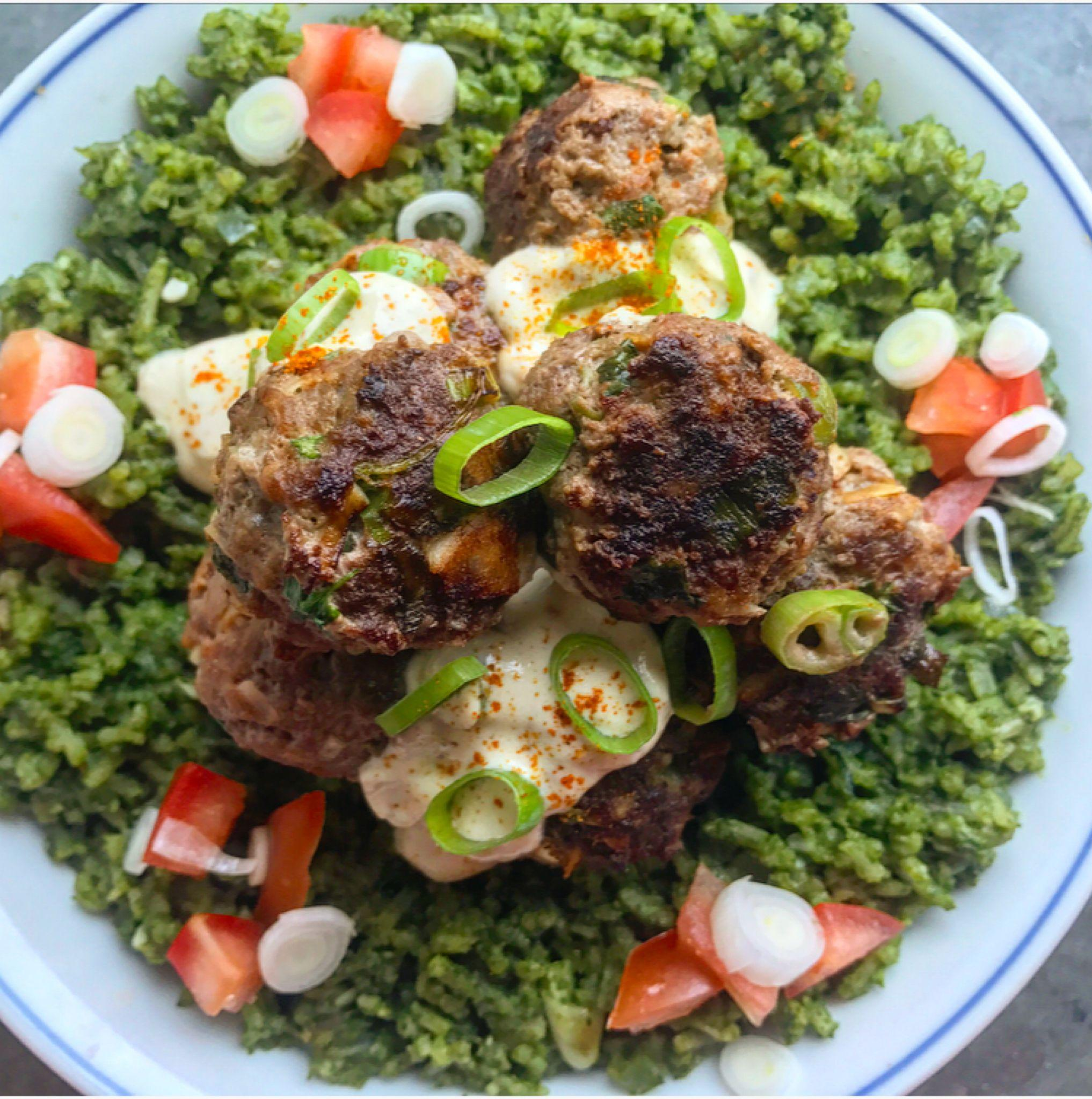 Tired of Jollof? Try This Green Rice & Coconut Meatballs Recipe thumbnail